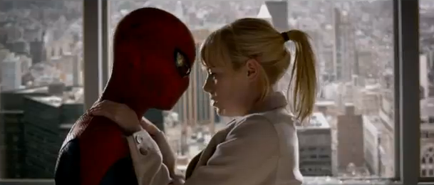 The Amazing Spider-Man 2012 movie trailer impressions super hero action movie trailer review cmaquest Gwen and Spider-Man film
