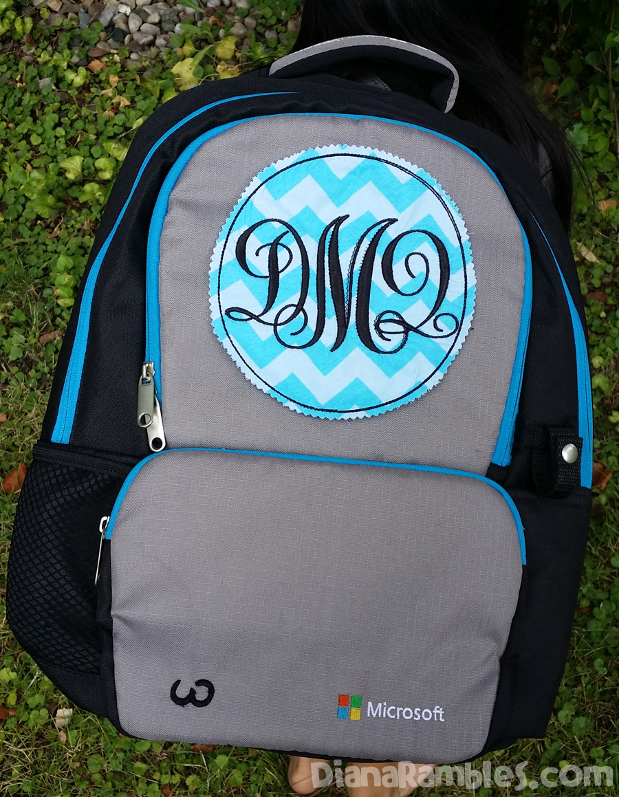 Back to School Backpack Refashion Monogram Patch #BTS