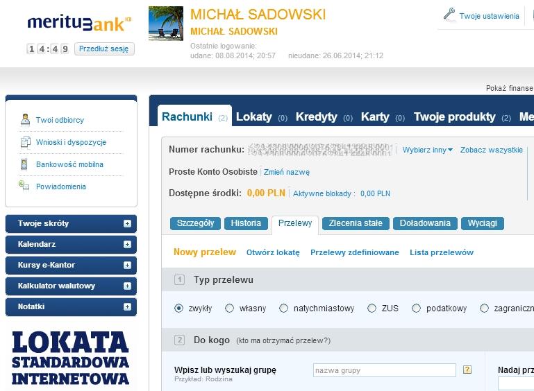 Lokata 5% w Meritum Bank - gwarantowana premia