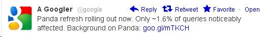 Google Panda Twitter