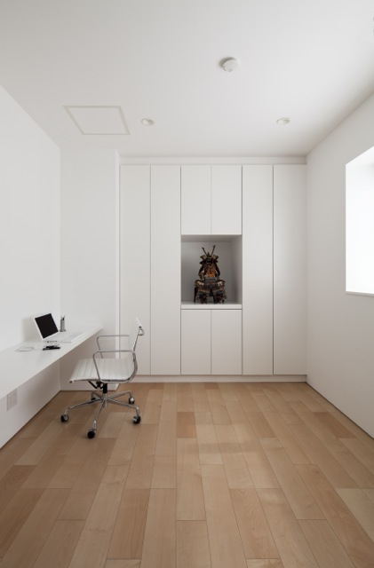 Minimalist white office room
