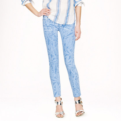 Toothpick Jean in Garment-Printed Floral