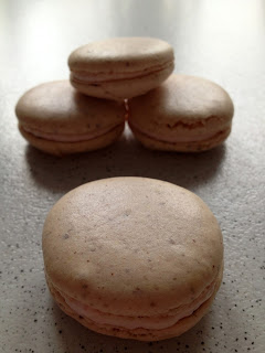 Jordbær - og cheesecake macarons