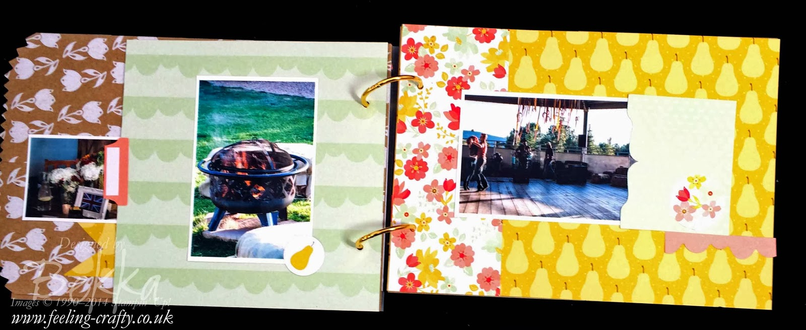 Stampin' Up! Hoe Down Mini Memories Simply Created Album - check this blog for a new Scrapbook Idea every Saturday