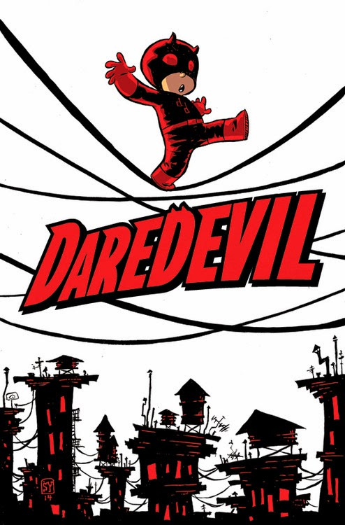 Skottie Young's Variant Cover for Daredevil Comic