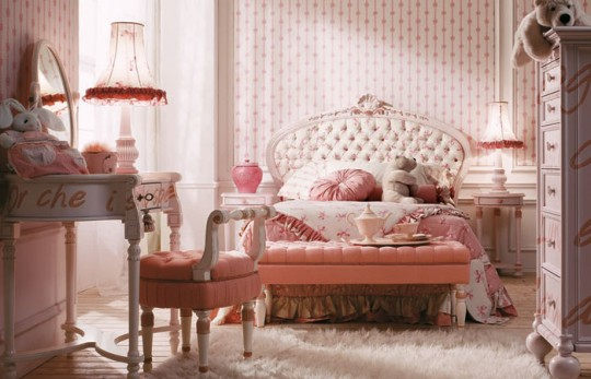 Dormitorios color rosa para adolescentes dormitorios con for Dormitorio rosa