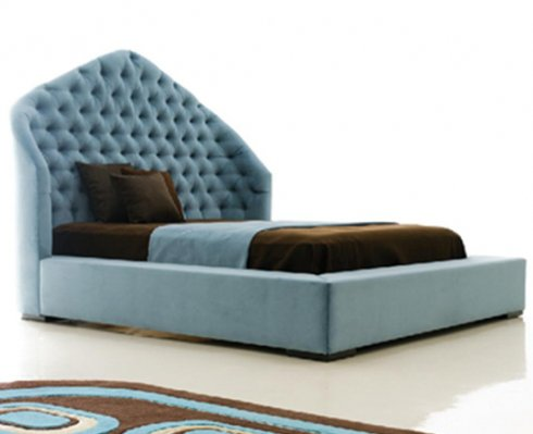 Bed Back Designs : Poshish High back bed With side Tabels Only 45000 Rs