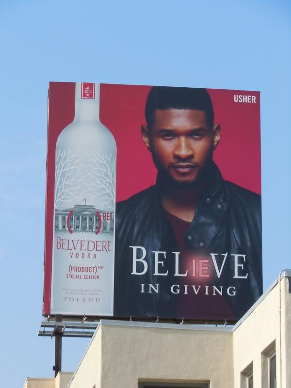 Usher Belvedere Believe billboard