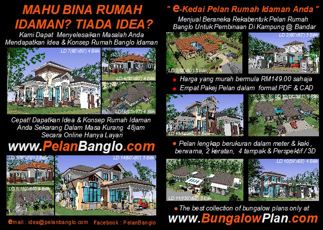 IKLAN - IDEA &amp; CONCEPT BUNGALOW / HOME PLAN