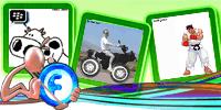 Animations Display Picture – Cows Messeger – Bikers Cows – Ryu Fighter | gif | Blackberry Messenger Avatar | Fadli Jabir | Blackberry animasi | Funny Cartoons | Blackberry Animations