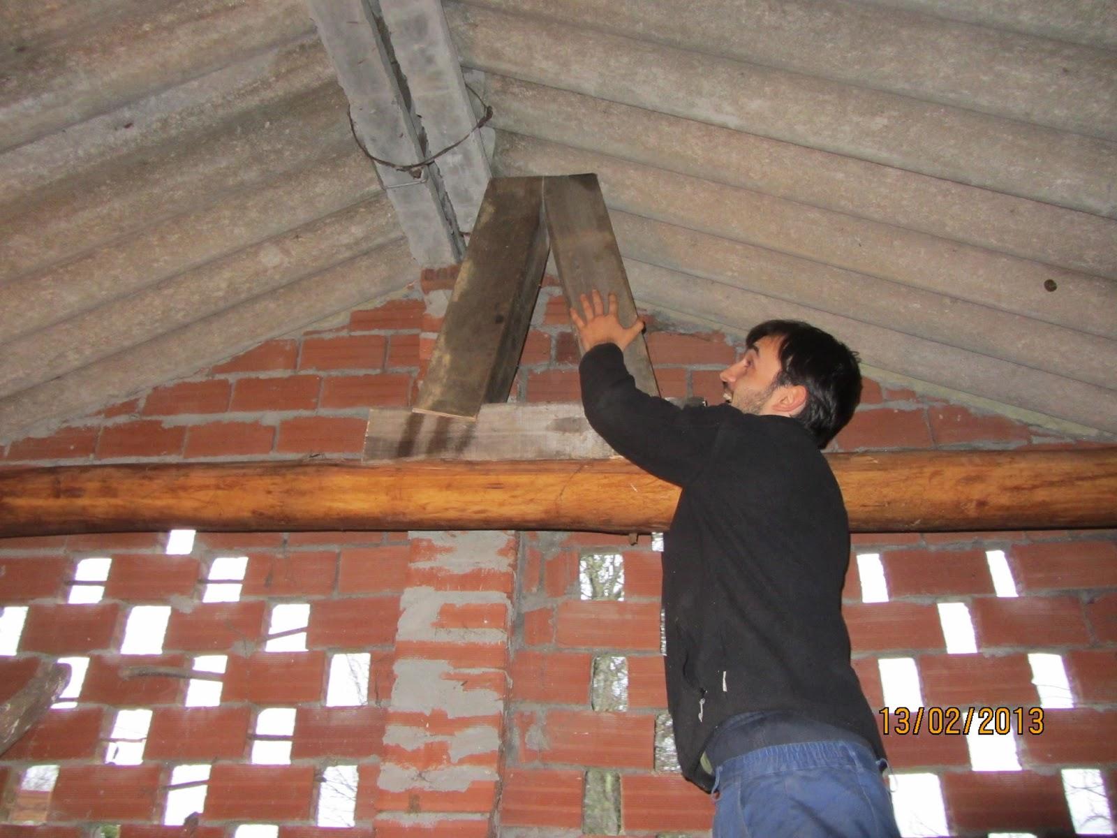 Tortugaboreal proceso de construcci n de mi taller - Pilares de hierro ...
