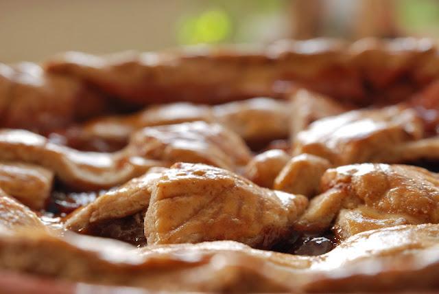 recette tarte aux poires et aux prunes