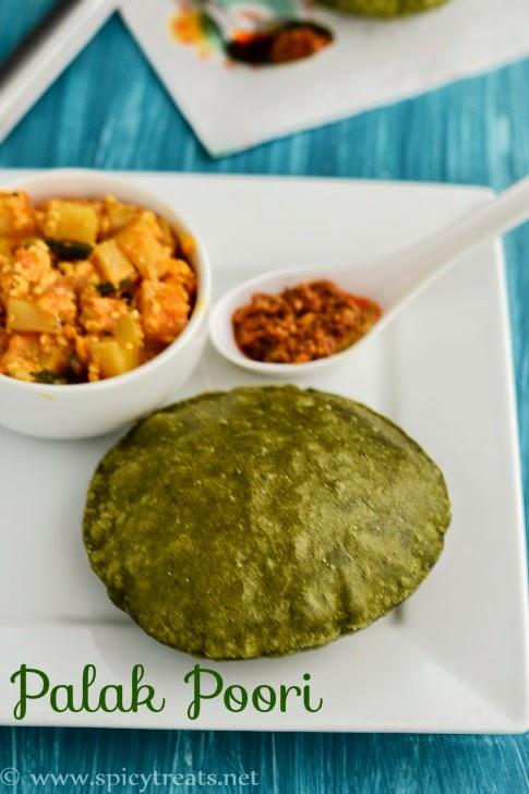 Palak(Spinach)Puri