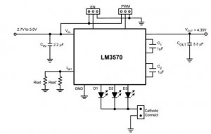 schematic reference low noise white led driver system electronic