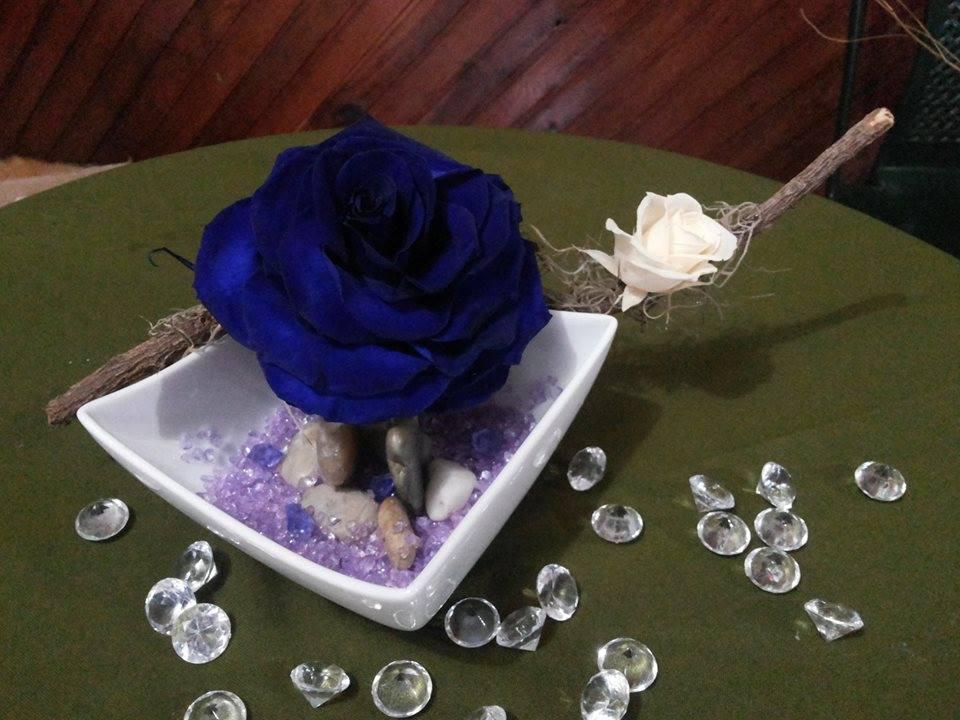 Rosas Naturales Preservadas Azul y Crema ¡Duran 4 Años! Santa Ana, El Salvador