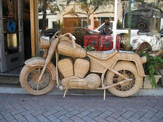 Metal Wood Motorcycle Wall Arts