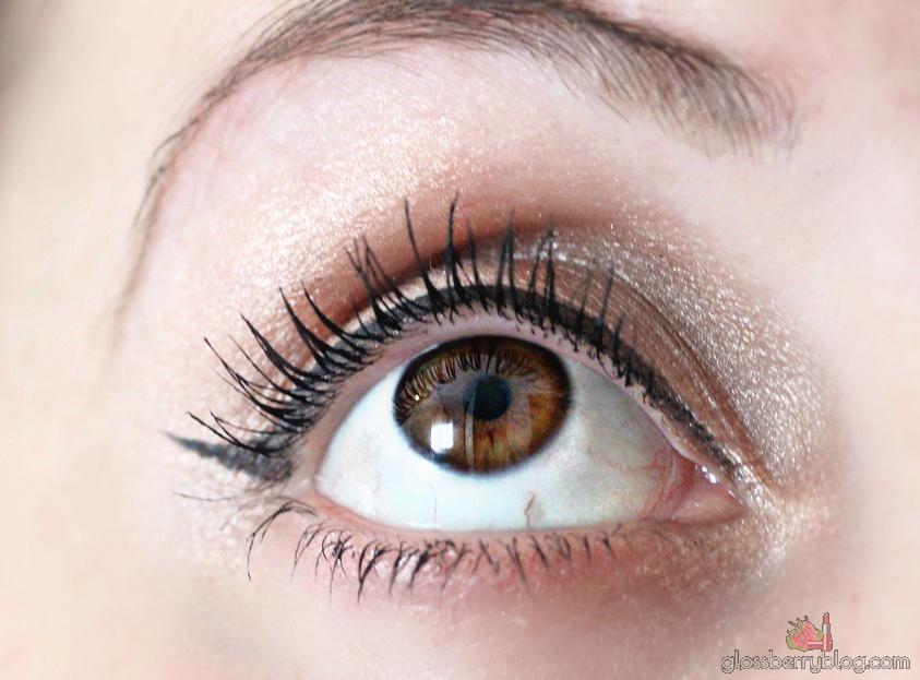 L'Oreal - False Lashes Telescopic Mascara swatch מסקרה לוריאל מומלצת לריסים ארוכים מודגשים סקירה פולס לאשס גלוסברי בלוג איפור וטיפוח