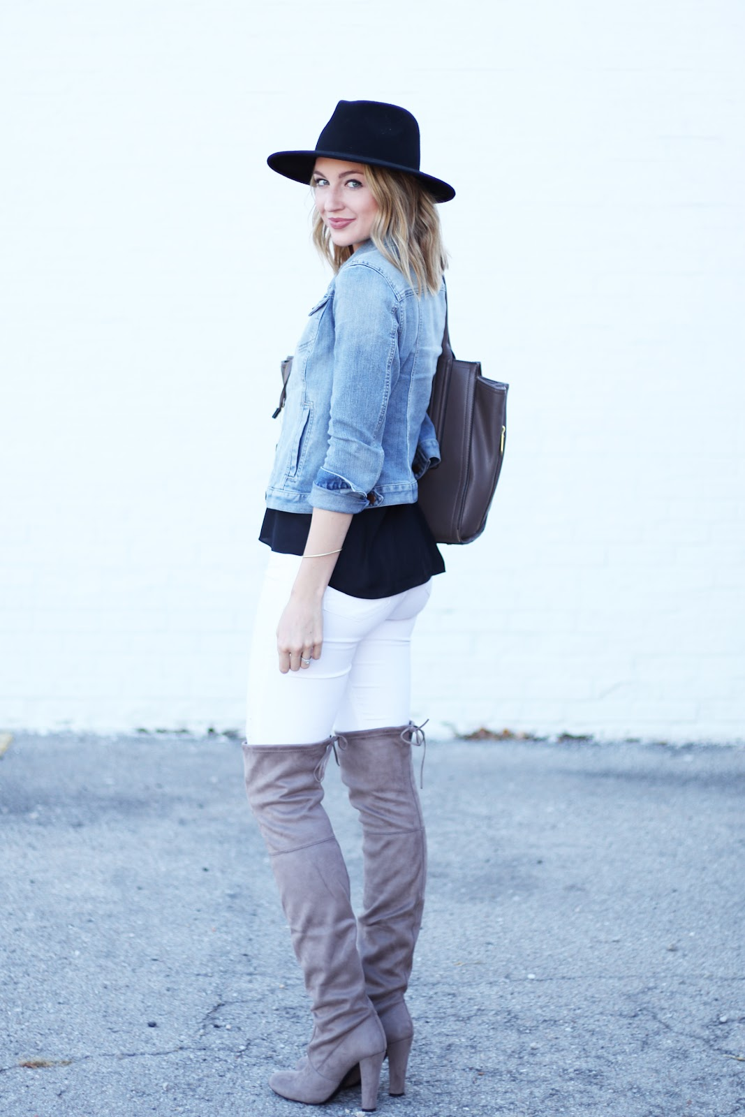 Fall outfit with over-the-knee boots