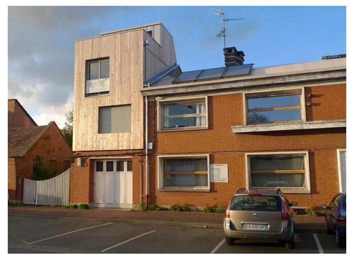 Labokub architecture ecologique lille extension for Extension maison 3 murs