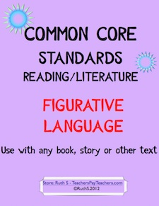 photo of Common Core Figurative Language PDF, ELA, student worksheets