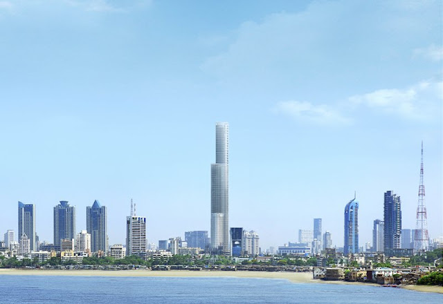 Rendering of future finished World One Skyscraper in Mumbai
