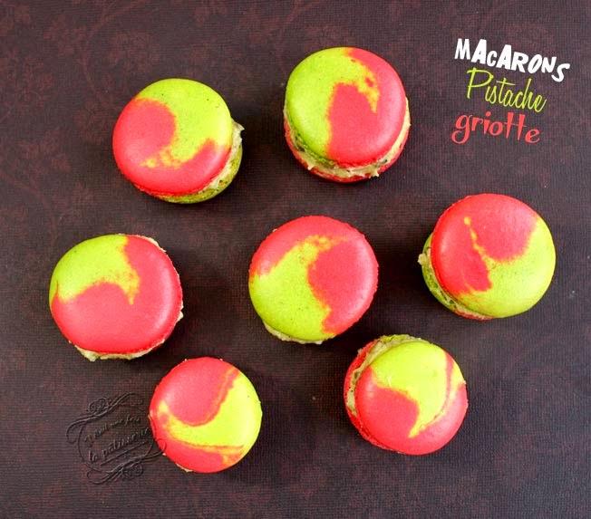 Bien-aimé Macarons bicolores pistache griotte : Il était une fois la pâtisserie DO16