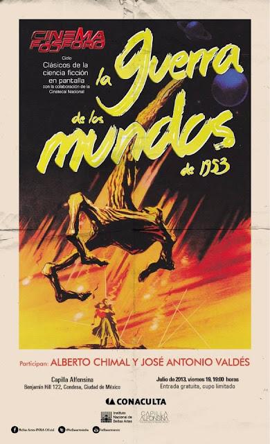 """Proyección de la película """"La guerra de los mundos"""" (1953) en la Capilla Alfonsina del INBA"""