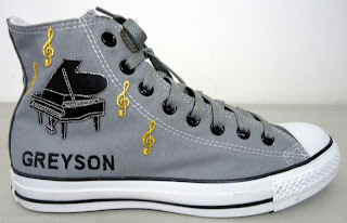 Custom high top converse Greyson Chance shoes