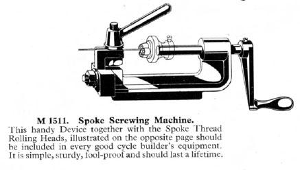 spoke screwing machine