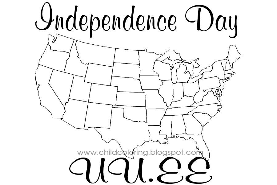 Independence Day Coloring Child Coloring Independence Day Coloring Pages