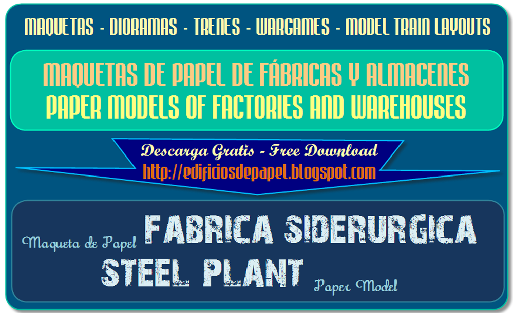 Wrap up guide to the Steel Plant paper model collection
