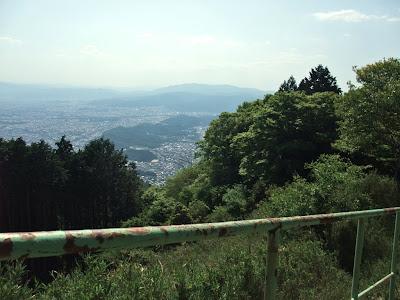 比叡山の中腹から見下ろす京都市内