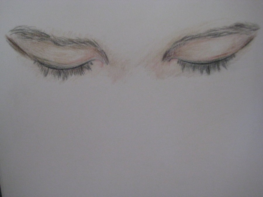 Closed Eyes Sketch Images amp Pictures Becuo