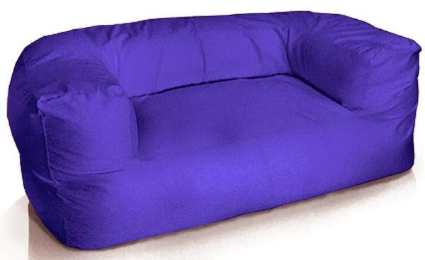 Canapé pouf bleu d'aujourd'hui