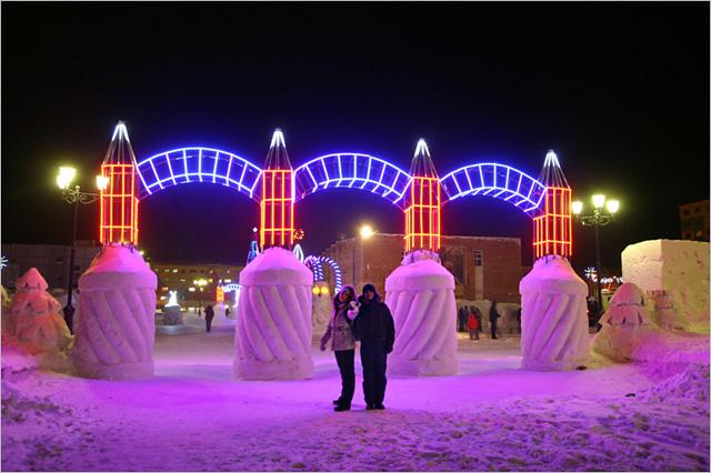 Красноярский край, Таймырский полуостров, город Норильск, район Талнах. Фото.