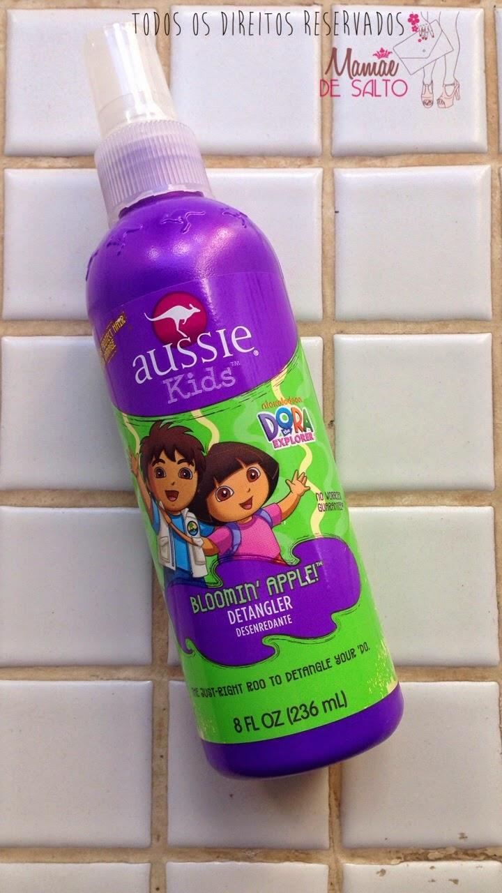 Resenha Aussie Kids Detangler desembaraçador cabelo infantil - blog Mamãe de Salto