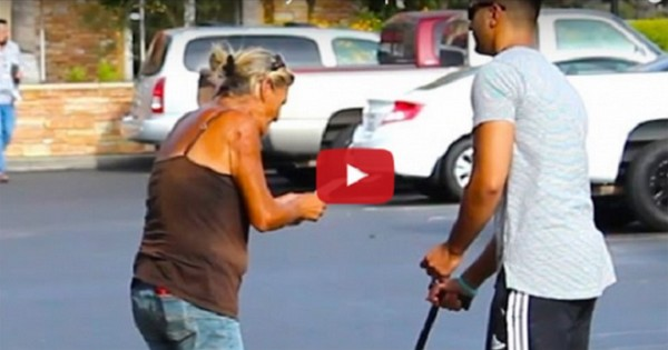 A Blind Man Asks Some Strangers If He Won The Lottery. Their Reactions Are Shocking!