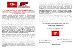 EL AYUNTAMIENTO DE JEREZ DE LA FRONTERA ES CÓMPLICE DE LA PERSECUCIÓN SINDICAL Y POLÍTICA EN EL SER
