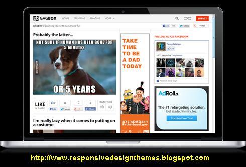 Free Premium Gagbox Blogger Template