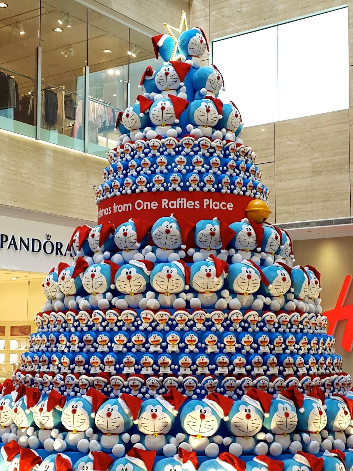 Doraemon Christmas Tree One Raffles Place