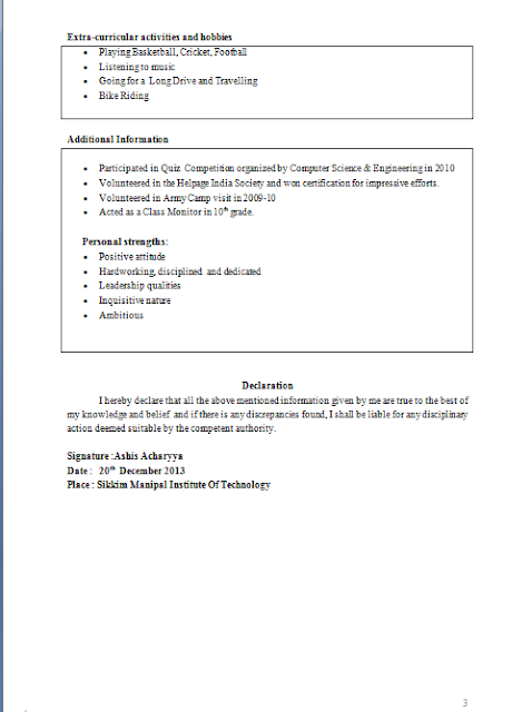 example of tabular form