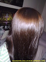 Revlon Colorsilk Luminista 120 Golden Brown on hair