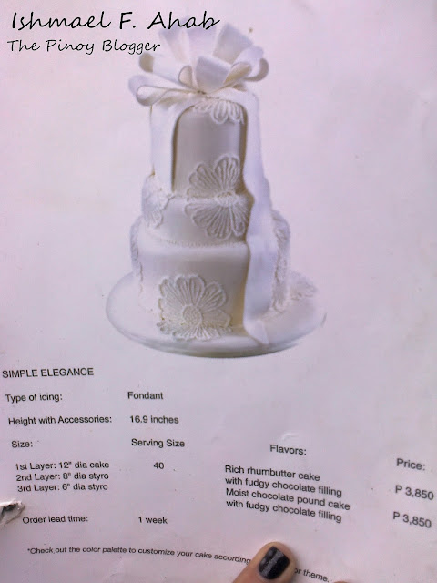 Simple Elegance wedding cake of Red Ribbon Bakeshop