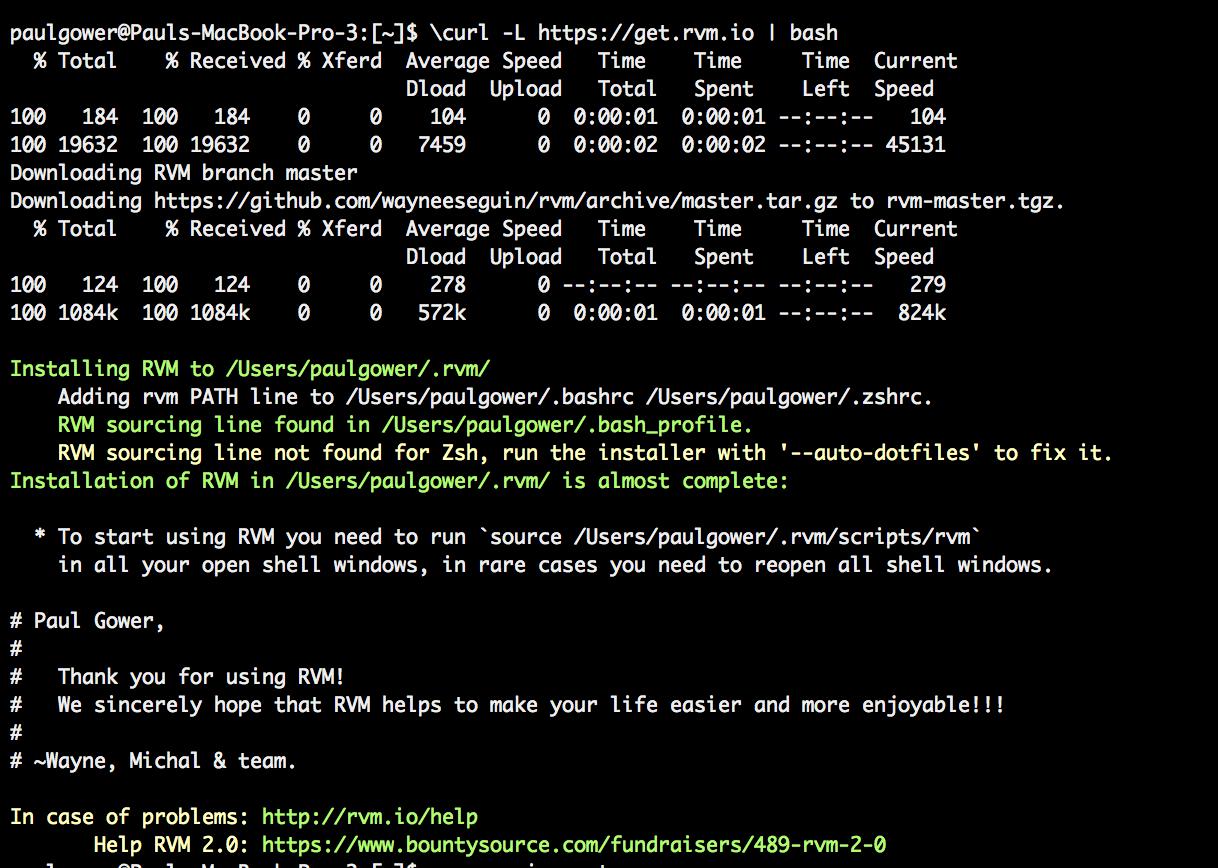 install ruby on mac
