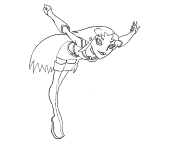 #14 Starfire Coloring Page