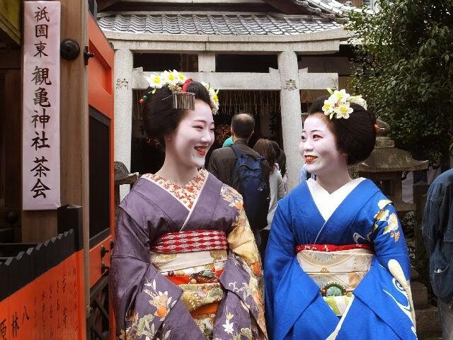 祇園東の舞妓さんたち雰囲気がよかった!