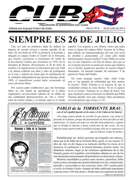 Cuba+. Impulsando la solidaridad con Cuba nº8