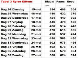 Gew Tabel 3:Kittens Rylee