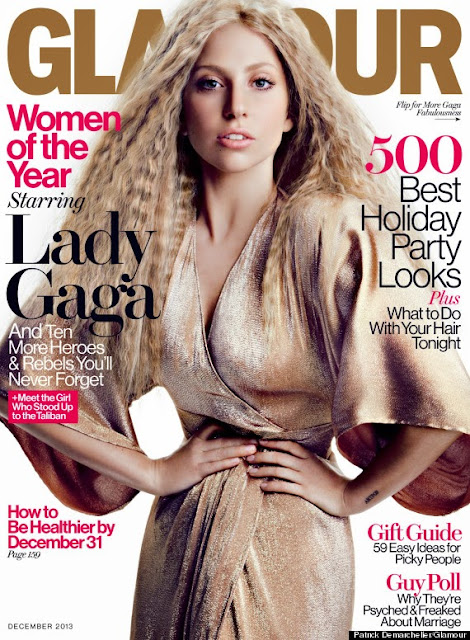 Lady Gaga Scores The Cover Of Glamour Magazine, December Issue.