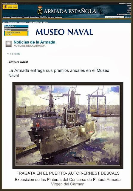 PINTURA MILITAR-ARMADA-VIRGEN DEL CARMEN-EXPOSICION-INSTITUTO HISTORIA NAVAL-PINTURAS-ERNEST DESCALS